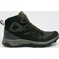 Salomon - Buty Outline Mid Gtx. Czarne buty trekkingowe męskie Salomon, z gore-texu, outdoorowe, gore-tex. W wyprzedaży za 549,90 zł.