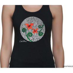Kwiaty - top (rożne rozmiary, 2 kolory). Szare topy damskie Pakamera, w kwiaty. Za 79,00 zł.
