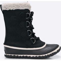 Sorel - Śniegowce Caribou Slim. Szare buty zimowe damskie Sorel, z kauczuku. W wyprzedaży za 399,90 zł.