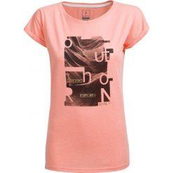 T-shirt damski TSD607 - pudrowy koral melanż - Outhorn. Różowe t-shirty damskie Outhorn, melanż, z materiału. W wyprzedaży za 24,99 zł.