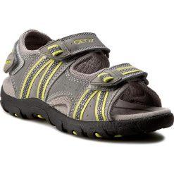 Sandały GEOX - J S.Strada A J4224A 0CE14 C1172 Grey/Lime Green. Szare sandały męskie skórzane Geox. W wyprzedaży za 209,00 zł.