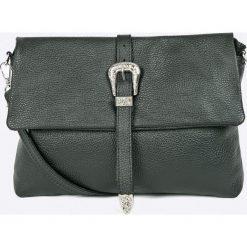 Answear - Torebka skórzana. Szare torebki klasyczne damskie ANSWEAR, w paski, z materiału, średnie. W wyprzedaży za 149,90 zł.