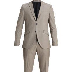 Selected Homme SLHONE MYLOBUCK SUIT Garnitur beige. Brązowe garnitury Selected Homme, z materiału. W wyprzedaży za 615,20 zł.