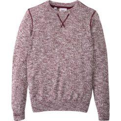 Sweter melanżowy bonprix czerwony klonowy - biel wełny melanż. Czerwone swetry chłopięce marki bonprix, m, melanż, z wełny, z kontrastowym kołnierzykiem. Za 44,99 zł.
