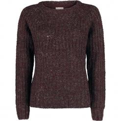 Noisy May Suzu L/S Boatneck Cable Knit Sweter damski bordowy. Czerwone swetry klasyczne damskie Noisy May, l. Za 99,90 zł.