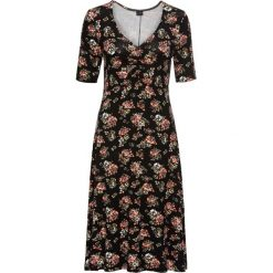 Sukienki: Sukienka bonprix czarny z nadrukiem
