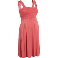 Sukienka ciążowa shirtowa bonprix koralowy. Różowe sukienki ciążowe marki numoco, l, z dekoltem w łódkę, oversize. Za 79,99 zł.