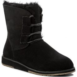 Buty EMU AUSTRALIA - Illawong W11657 Black. Czarne buty zimowe damskie EMU Australia, ze skóry, na niskim obcasie. Za 639,00 zł.
