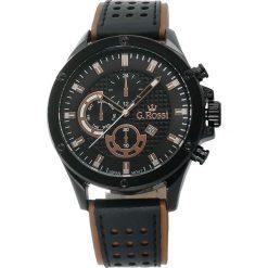 Zegarki męskie: Zegarek Gino Rossi męski Borton czarno-brązowy (11455A-2B1)