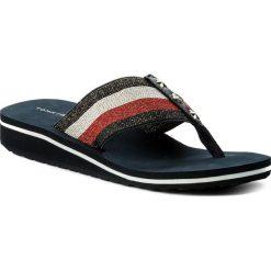 Klapki damskie: Japonki TOMMY HILFIGER – Elevated Corporate Beach Sandal FW0FW02653 Rwb 020