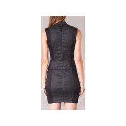 Sukienki krótkie G-Star Raw  LYNN SLIM DRESS S/LESS. Czarne sukienki hiszpanki G-Star RAW, s, retro, z krótkim rękawem, mini. Za 535,20 zł.