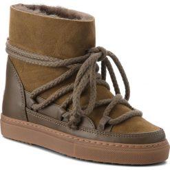 Buty INUIKII - Sneaker 70202-5 Classic Olive. Zielone buty zimowe damskie Inuikii, ze skóry. Za 1049,00 zł.