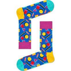 Happy Socks - Skarpetki Nineties. Różowe skarpetki damskie Happy Socks, z bawełny. W wyprzedaży za 29,90 zł.