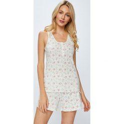 Lauren Ralph Lauren - Piżama. Szare piżamy damskie Lauren Ralph Lauren, s, z bawełny, z krótkim rękawem. W wyprzedaży za 229,90 zł.