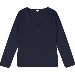 Sweter kaszmirowy w kolorze granatowym. Niebieskie swetry klasyczne damskie marki Ateliers de la Maille, z kaszmiru. W wyprzedaży za 363,95 zł.