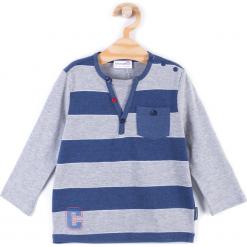 Koszulka. Szare t-shirty chłopięce z długim rękawem REBELS, z aplikacjami, z bawełny. Za 34,90 zł.
