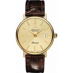Zegarek Atlantic Męski Seacrest 50354.45.31 Szafirowe szkło brązowy. Brązowe zegarki męskie Atlantic, szklane. Za 1358,99 zł.