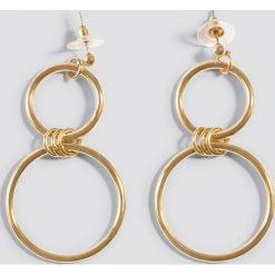 Kolczyki damskie: Kristin Sundberg for NA-KD Wiszące kolczyki podwójne koła – Gold