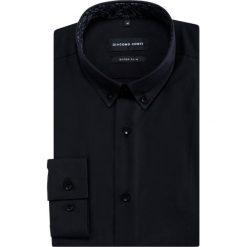 Koszula SIMONE KDCE000386. Czarne koszule męskie na spinki Giacomo Conti, m, z bawełny, button down, z długim rękawem. Za 299,00 zł.