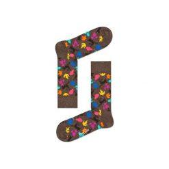 Skarpetki Happy Socks - Fall (DEE01-8000). Szare skarpetki męskie Happy Socks, w kolorowe wzory, z bawełny. Za 34,90 zł.