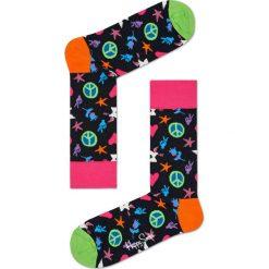 Happy Socks - Skarpety Peace And Love. Czarne skarpetki męskie marki Happy Socks. W wyprzedaży za 27,90 zł.