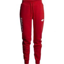 Spodnie dresowe damskie: Spodnie dresowe damskie Chorwacja Pyeongchang 2018 SPDD750 – czerwony wiśniowy
