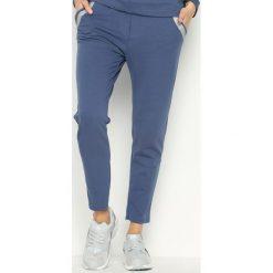 Spodnie damskie: Niebieskie Spodnie Dresowe Willow