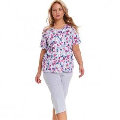 Piżama w kolorze szarym ze wzorem - koszula, spodnie. Szare piżamy damskie Doctor Nap, l. W wyprzedaży za 82,95 zł.