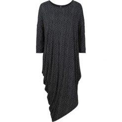 Sukienki balowe: Sukienka shirtowa bonprix czarny z nadrukiem