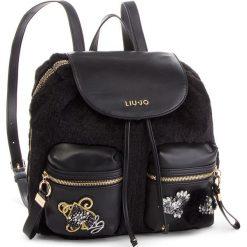 Plecak LIU JO - M Backpack Brentas N68062 E0412 Nero 22222. Czarne plecaki damskie marki Liu Jo, z materiału, eleganckie. Za 599,00 zł.
