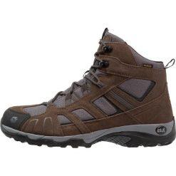 Jack Wolfskin VOJO HIKE MID TEXAPORE MEN Buty trekkingowe dark wood. Brązowe buty trekkingowe męskie Jack Wolfskin, z materiału, outdoorowe. Za 459,00 zł.