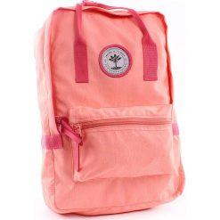 """Plecaki damskie: Plecak """"No Stranger Things"""" w kolorze brzoskwiniowym – 26 x 38 x 19 cm"""