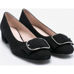 Gino Rossi - Czółenka Miho. Czarne buty ślubne damskie marki Gino Rossi, z materiału, z okrągłym noskiem, na szpilce. W wyprzedaży za 249,90 zł.