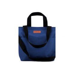 Duża torba Miss Szoperka 2 - navy blue. Szare torebki klasyczne damskie Mili-tu, z tkaniny, duże. Za 199,00 zł.