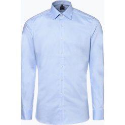Olymp Level Five - Koszula męska łatwa w prasowaniu, niebieski. Niebieskie koszule męskie na spinki OLYMP Level Five, m, z materiału. Za 199,95 zł.