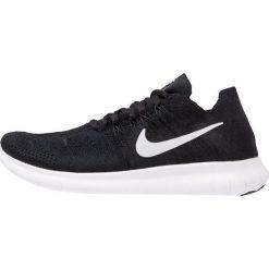 Nike Performance FREE RUN FLYKNIT 2 Obuwie do biegania neutralne black/white/anthracite/dark grey. Czarne buty do biegania damskie marki Nike Performance, z materiału. Za 549,00 zł.