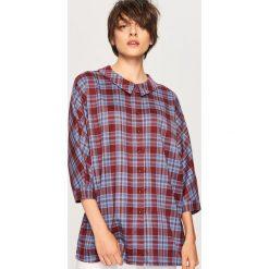 Koszula w kratę - Wielobarwn. Szare koszule damskie marki Reserved. W wyprzedaży za 59,99 zł.