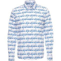 Koszule męskie na spinki: Soulland NAZORINE ALL OVER PRINT Koszula white/blue