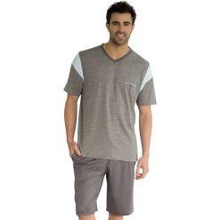 Piżama letnia z krótkim rękawem. Szare piżamy męskie Athena, na lato, z bawełny, eleganckie. Za 138,56 zł.
