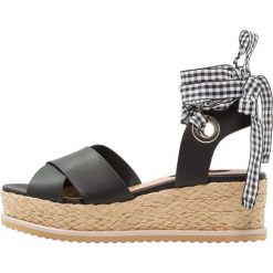 Sandały damskie: Miss Selfridge MAGIC Sandały na platformie black