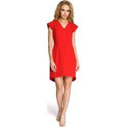 ALEXIS Sukienka smokingowa - czerwona. Czerwone sukienki mini Moe, z krótkim rękawem, dopasowane. Za 129,00 zł.