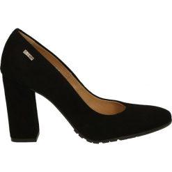 Czółenka - 2718 CAM NERO. Czarne buty ślubne damskie Venezia, ze skóry. Za 239,00 zł.