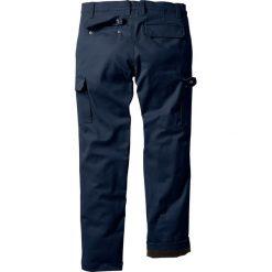 Bojówki męskie: Spodnie bojówki ocieplane Regular Fit Straight bonprix ciemnoniebieski