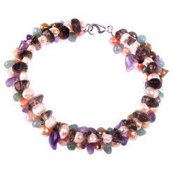 Bransoletki damskie na nogę: Bransoletka z kamieniami i perłami