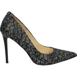 Czółenka - 4700 PRI BLU. Czarne buty ślubne damskie Venezia, ze skóry. Za 219,00 zł.
