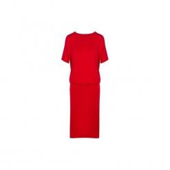 Sukienka Prezeska czerwona. Szare sukienki asymetryczne marki Mohito, l, z asymetrycznym kołnierzem. Za 179,00 zł.