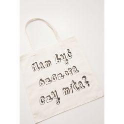 Materiałowa torba z napisem - Biały. Białe torebki klasyczne damskie marki House, z napisami, z materiału. Za 15,99 zł.