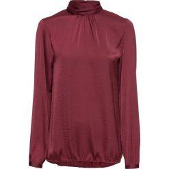 Bluzka satynowa ze stójką bonprix czerwony klonowy. Czarne bluzki wizytowe marki bonprix, eleganckie. Za 69,99 zł.