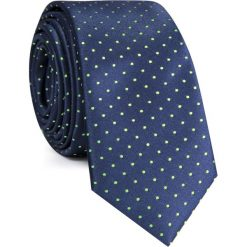 KRAWAT KWGS001548. Zielone krawaty męskie Giacomo Conti, w kropki, z mikrofibry. Za 69,00 zł.