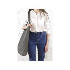 Mega Shopper bag szara torba oversize Vegan. Szare shopper bag damskie Hairoo, w paski. Za 185,00 zł.